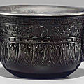 An unusual silver-lined carvedzitanarchaistic cup, 18th-early 19th century