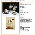 Samedi 22/09/18 : atelier poésie de papier avec claudette