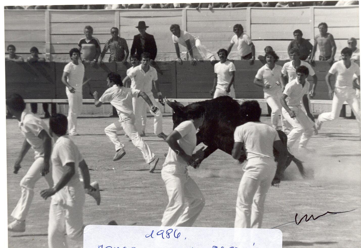 COCARDE 1984 MOUSSAILLON DE PASTRE SUR JACKY SIMEON