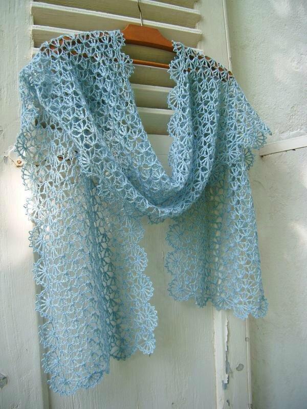 clochette bleu crochet étole 035