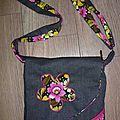 sac noir/fleuri