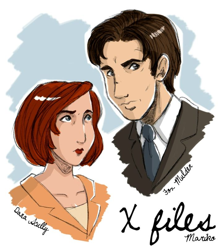 mulder_and_scully_by_mistressmariko-d5xty55