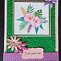 Des cartes fleuries et une aquarelle