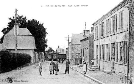 SAINS DU NORD-Rue Jules Hiroux (2)