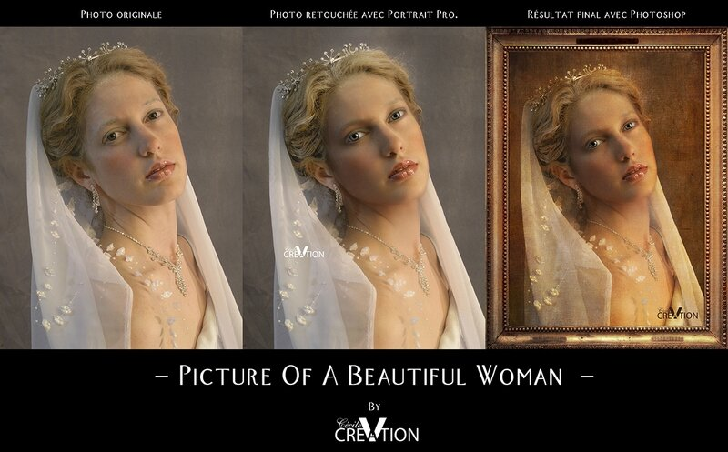 Picture of A Beautiful Woman By CecileVCreation-Avant Apres-TR