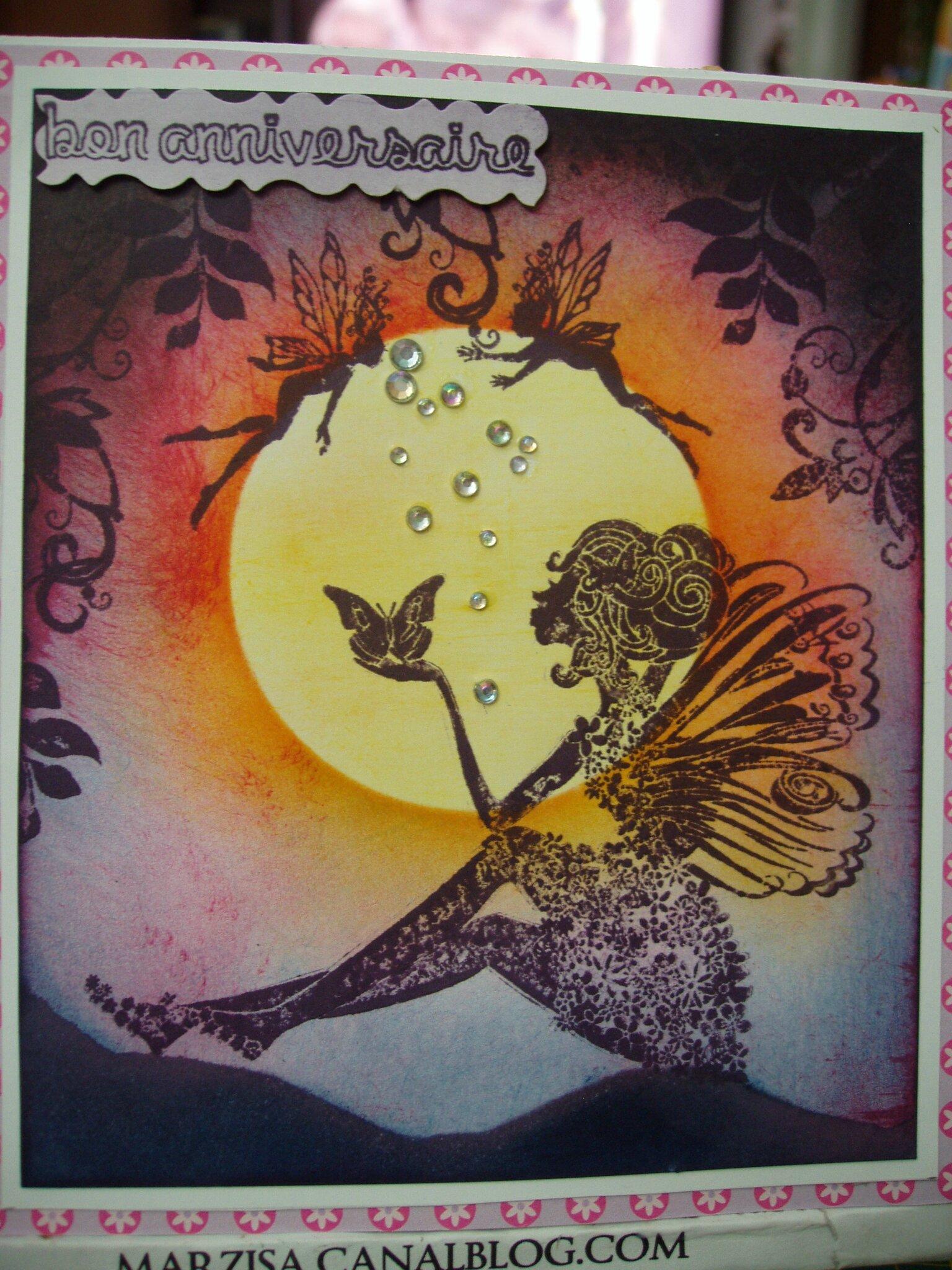 Une fée papillon...