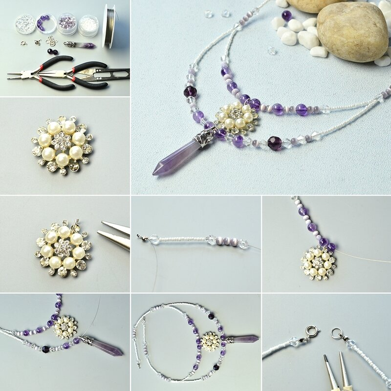 1080-How-to-Make-Simple-yet-Graceful-Beaded-Gemstone-Pendant-Necklace