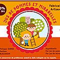 Etiquette de jus de pommes-mirabelles