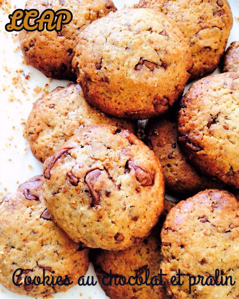 Cookies au chocolat et pralin
