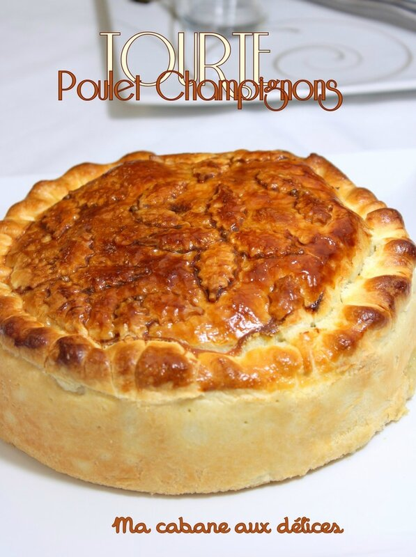 tourte poulet et champignon photo 3