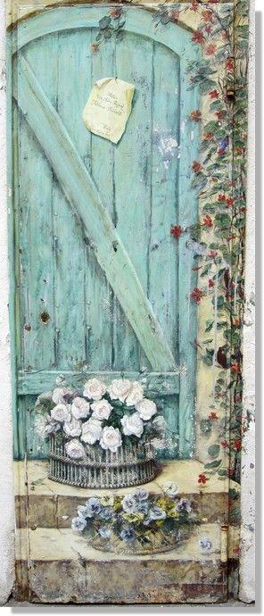 Porte peinte, atelier peinture décorative Village St Paul