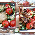 Légumes du soleil grillés au barbecue