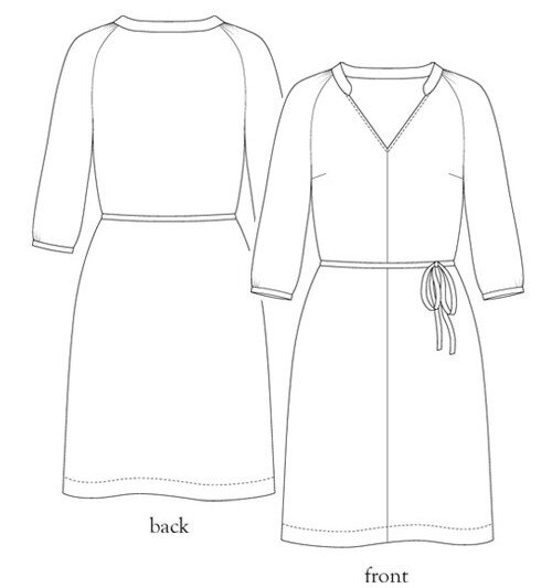 Salme Patterns - Raglan sleeve shirt dress