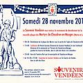 28 novembre 2015, le souvenir vendéen à chaudron-en-mauges
