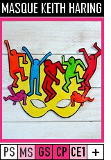 V350-MASQUES-Masque Keith Haring