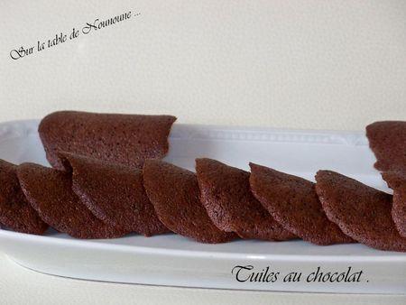 Tuiles au chocolat 1