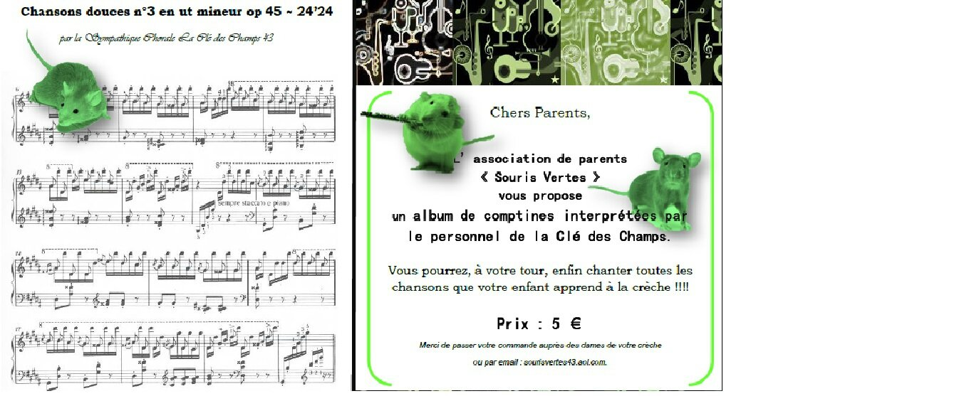 Poussons ensemble la chansonnette