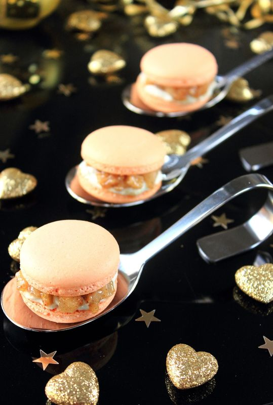 Macaron au curcuma, roquefort & poires4