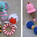 Baby rattle assortment - lorraine pistorio