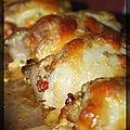 P'tites roulades de poulet farcies aux légumes et couscous