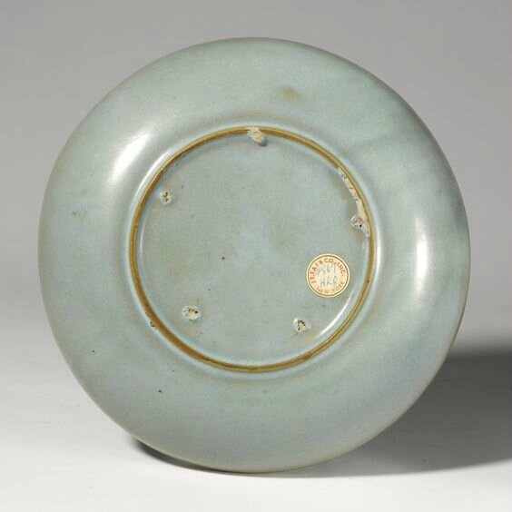 A fine and large blue 'Jun' dish, Jin dynasty (1115-1234)