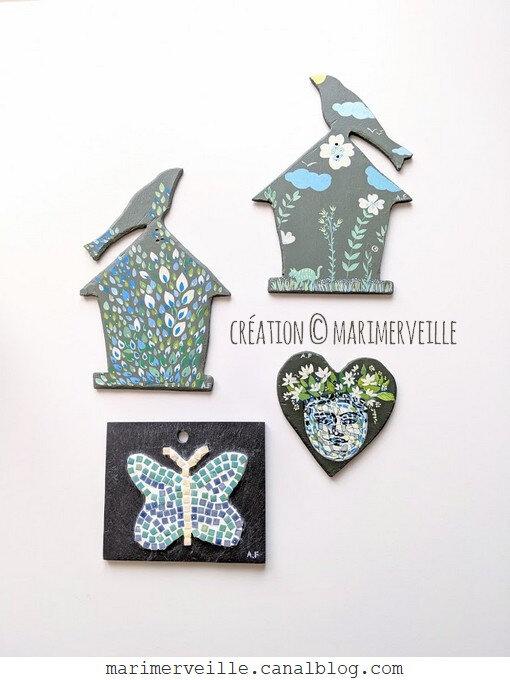 Micro-mosaïque et peintures en trompe-l'oeil créations marimerveille