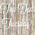 Top ten tuesday #16