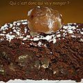 Fondant aux marrons et chocolat noir , sans gluten et sans lactose