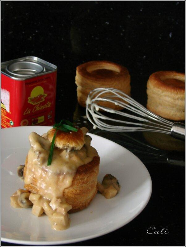 Vol au Vent au Tofu Fumé & Champignons 002