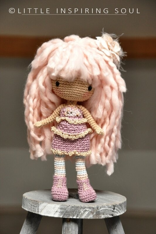 crochet shabby doll