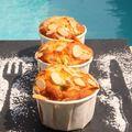 Muffins à la rhubarbe et aux amandes