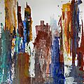 Titre : 12 - Acrylique sur papier marouflé sur toile - 50 x 65 cm