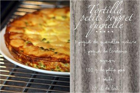 Tortilla quenelle petits pois1