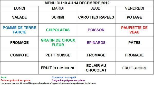 Menus RestaurantScolaire 10au14dec2012