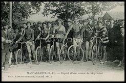 Depart course cycliste