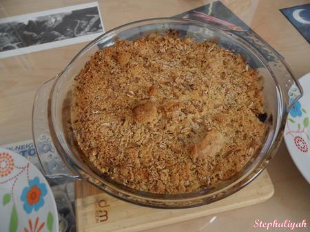 Crumble poulet et poireaux -- 2
