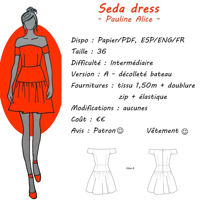 Fiche Technique - Seda Dress - Pauline Alice