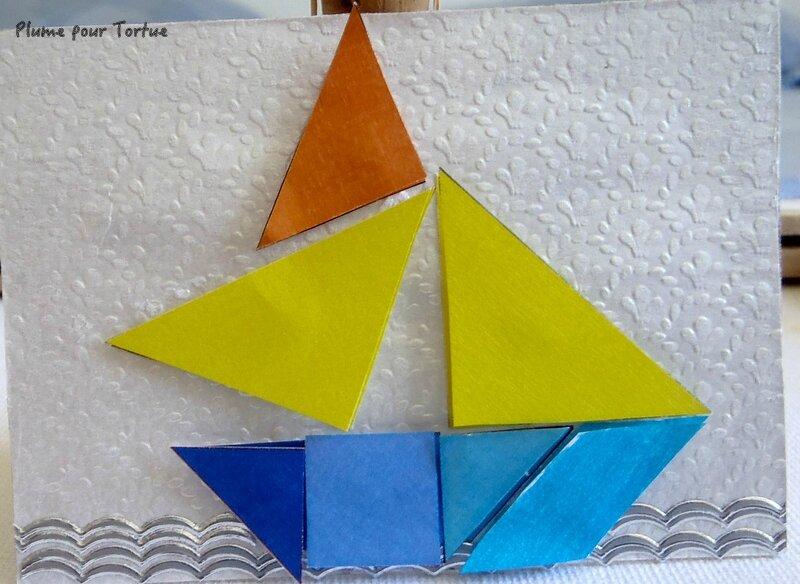 N°14 Tangram bateau pour Martine Tortue