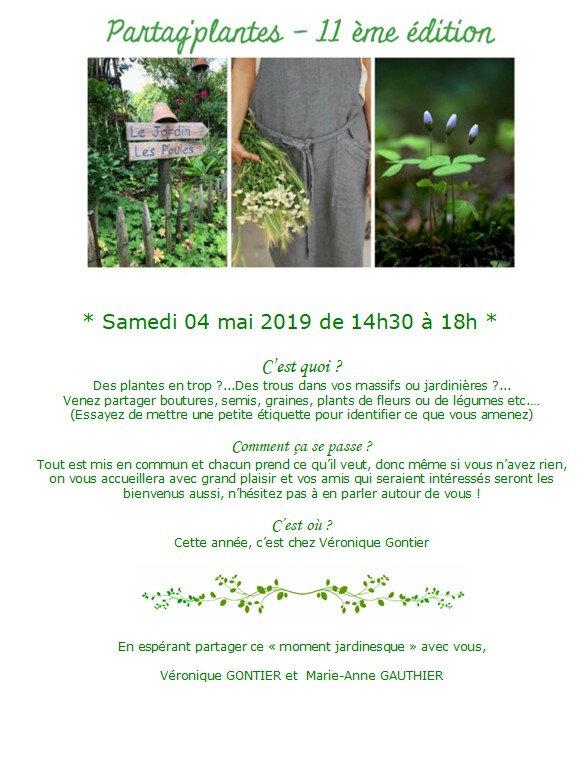troc plante 2019 sans adresse et coordonnées