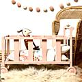 Lit roulotte de poupée