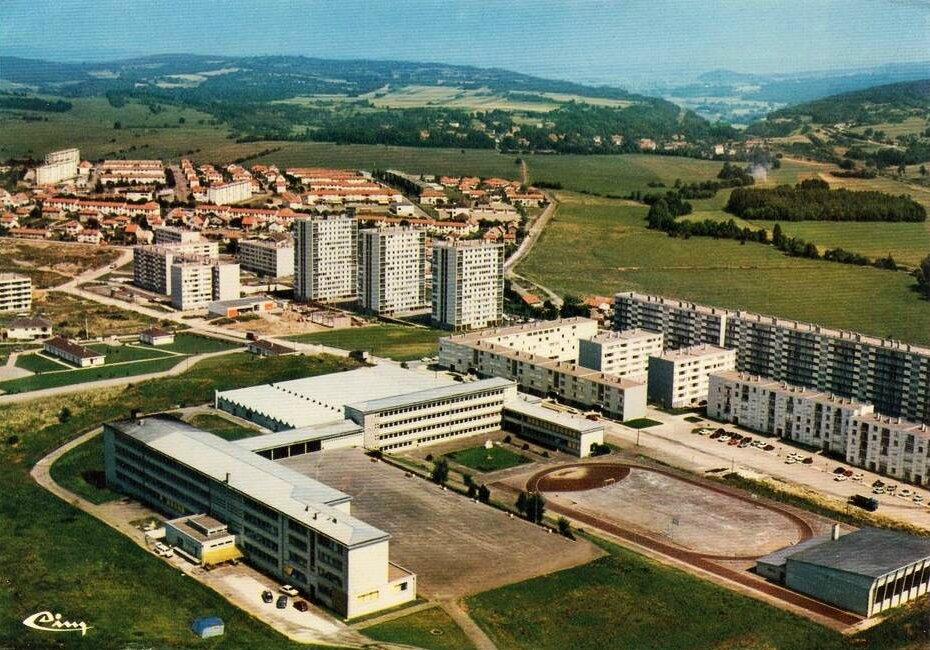 Vesoul (Haute-Saône), quartier Grand-Montmarin, 60's