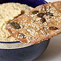 Carnet estival – houmous & crackers aux graines