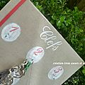 porte-clefs médaillons peints