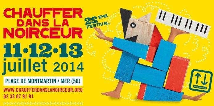 festival Chauffer dans la Noirceur 2014 affiche CDLN Montmartin sur mer