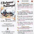 A noter dans votre agenda : l'automne provençal à sisteron.
