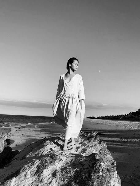 Robe Ann-Grace, 100% lin, coloris dune