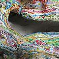 Hervé THAREL - SCMIMBLOCK'S malgouverne 2013 - acrylique sur argile - 30,5 x 26, 5 cm détail 2