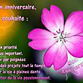 anniversaire-souhaits carte de Bernadette