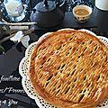 Tourte feuilletée aux pommes/prunes