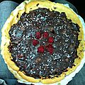 Tarte fruits rouges chocolat